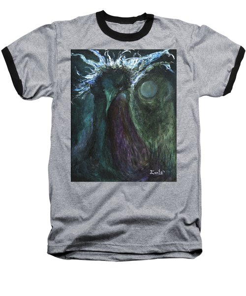 Baseball T-Shirt featuring the painting Deformed Transcendence by Christophe Ennis