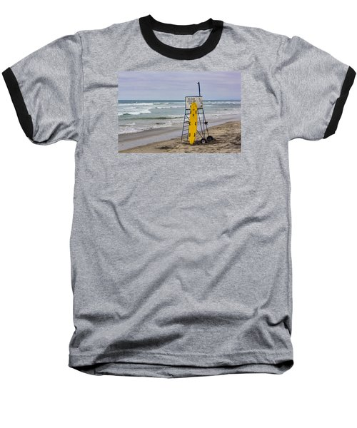 Del Mar Lifeguard Tower Baseball T-Shirt