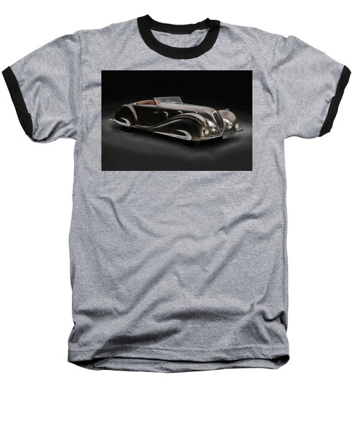 Baseball T-Shirt featuring the digital art Delahaye 1930's Art In Motion by Marvin Blaine