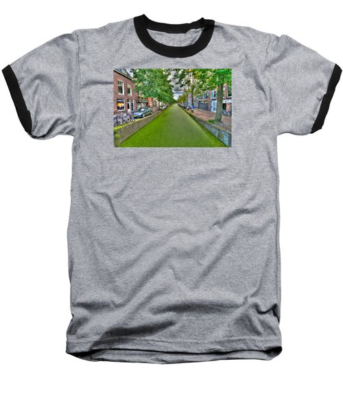 Baseball T-Shirt featuring the photograph Delft Canals by Uri Baruch