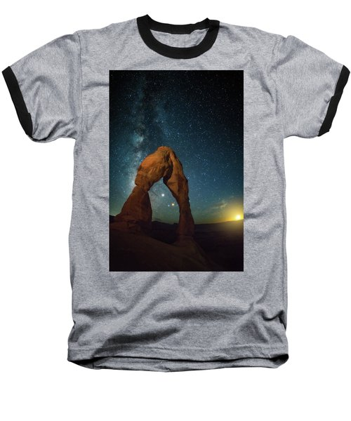Delicate Arch Moonset Baseball T-Shirt