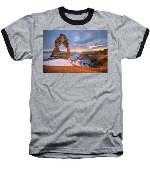 Delicate Arch Winter Baseball T-Shirt