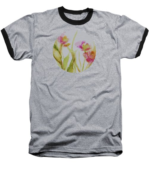 Delicate Blossoms Baseball T-Shirt by Mary Wolf
