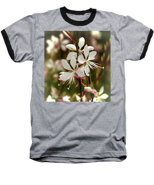 Delicate Gaura Flowers Baseball T-Shirt by Joann Copeland-Paul