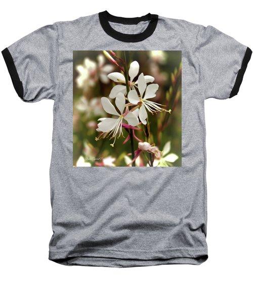 Delicate Gaura Flowers Baseball T-Shirt