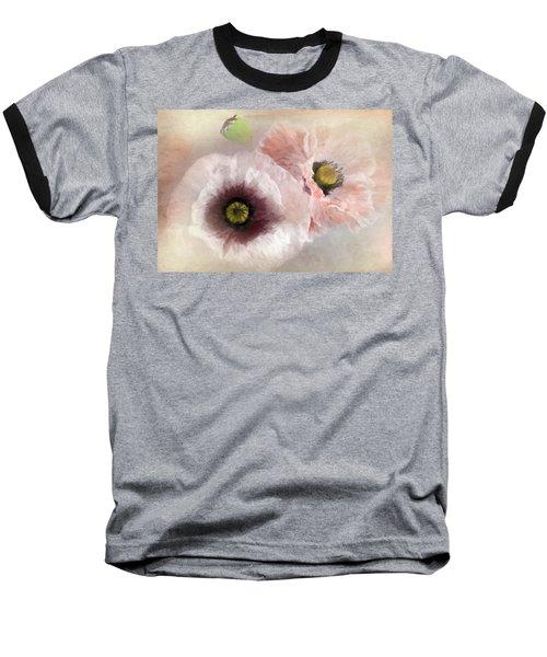 Delicate Pastel Poppies Baseball T-Shirt