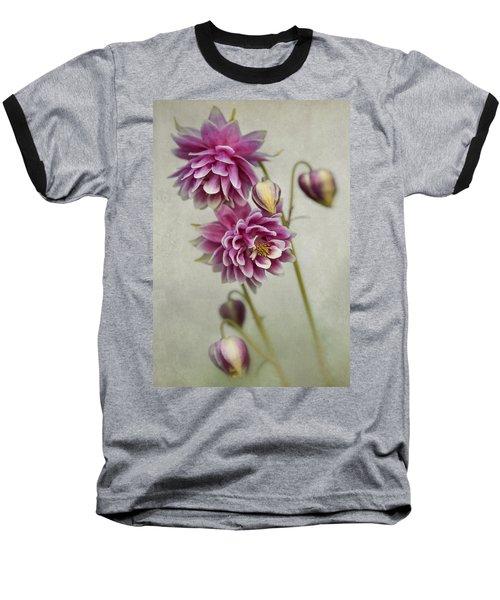 Delicate Pink Columbine Baseball T-Shirt