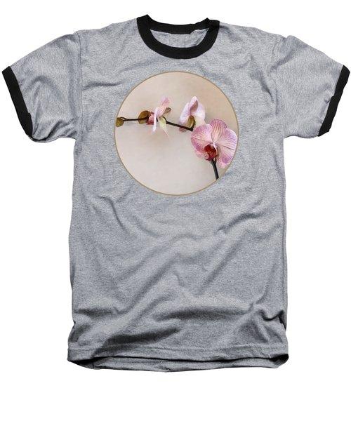 Delicate Pink Phalaenopsis Orchids Baseball T-Shirt by Susan Savad