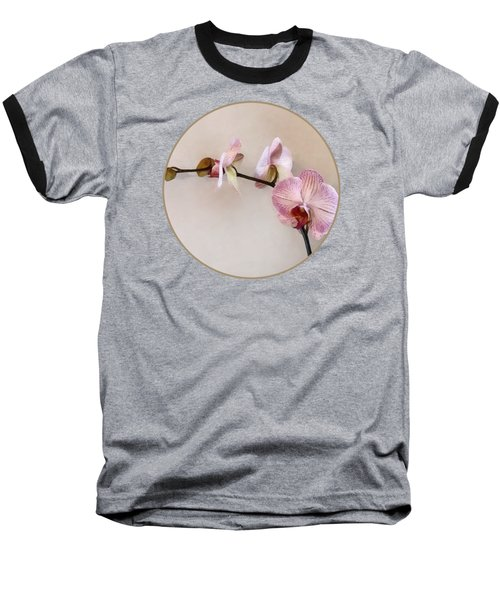 Delicate Pink Phalaenopsis Orchids Baseball T-Shirt