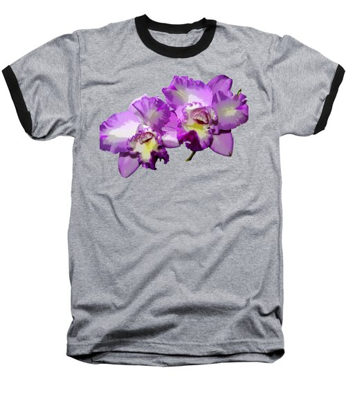 Baseball T-Shirt featuring the photograph Delicate Purple Orchids by Phyllis Denton