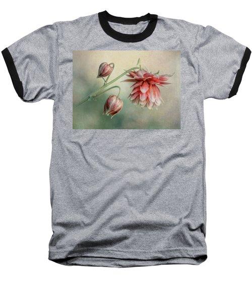 Delicate Red Columbine Baseball T-Shirt