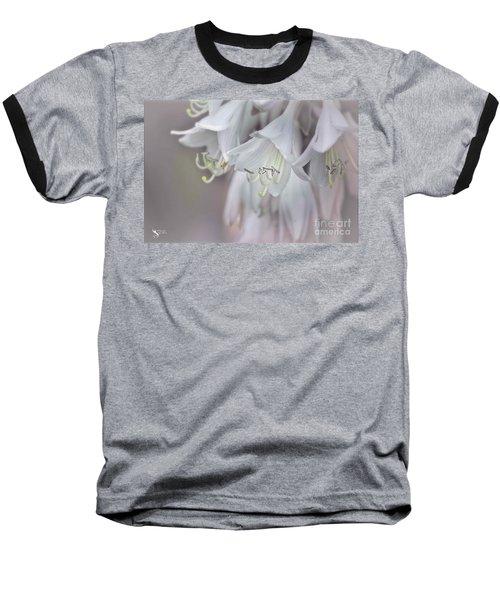 Delicate White Flowers Baseball T-Shirt