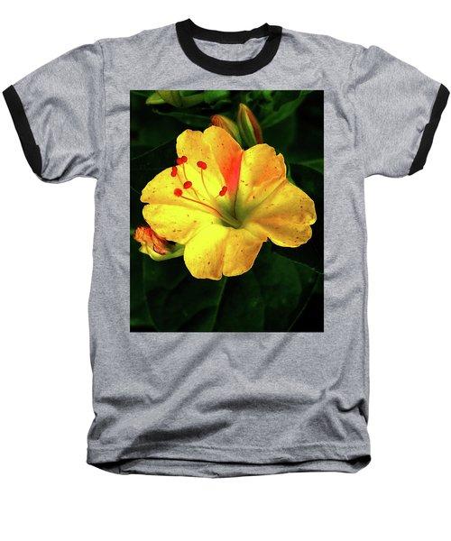 Delicate Yellow Flower Baseball T-Shirt