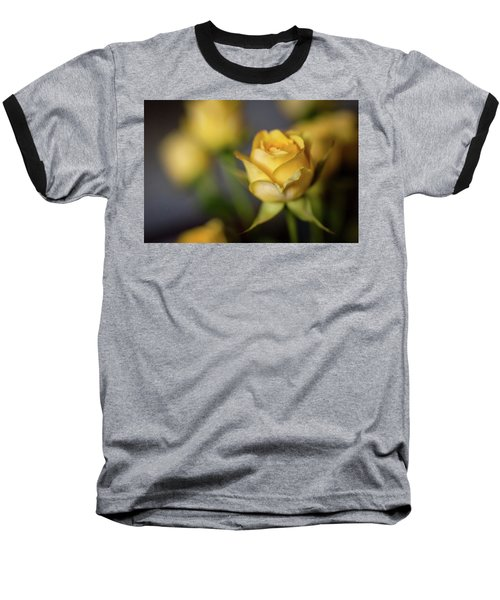Baseball T-Shirt featuring the photograph Delicate Yellow Rose  by Terry DeLuco