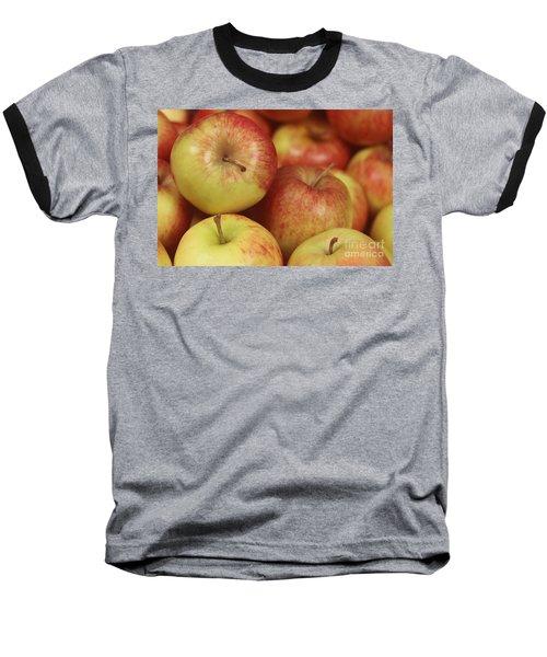 Delicious Apple Fruit Background Baseball T-Shirt