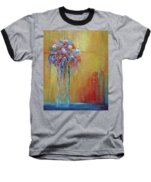 Delivered In Time Baseball T-Shirt by Roberta Rotunda