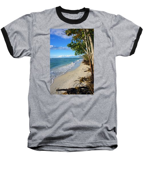 Baseball T-Shirt featuring the photograph Delnor Wiggins Pass State Park by Robb Stan