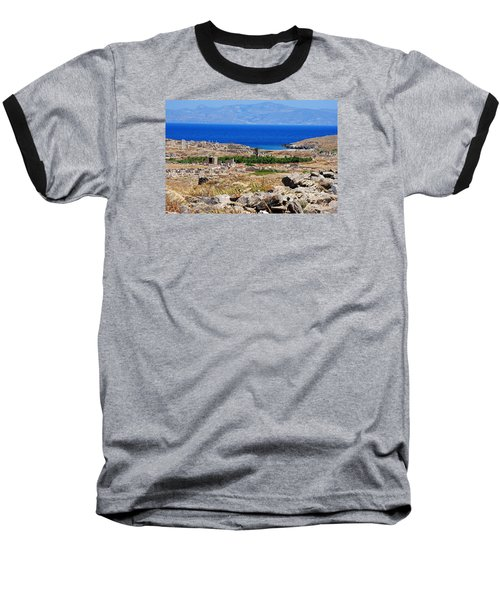 Baseball T-Shirt featuring the photograph Delos Island View Of Agean by Robert Moss