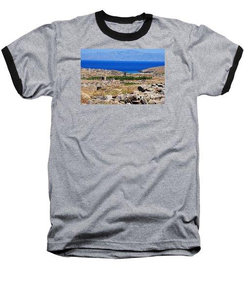 Delos Island View Of Agean Baseball T-Shirt