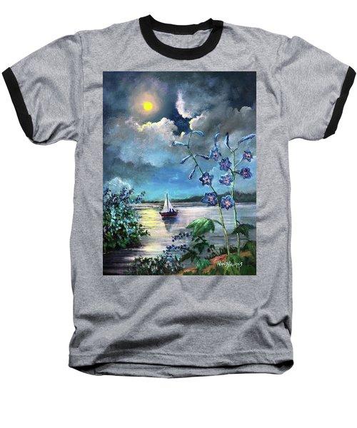 Delphinium Dreams Baseball T-Shirt