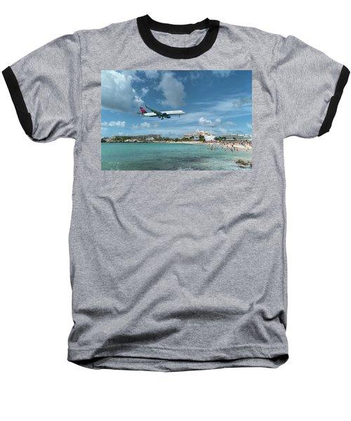 Delta 757 Landing At St. Maarten Baseball T-Shirt