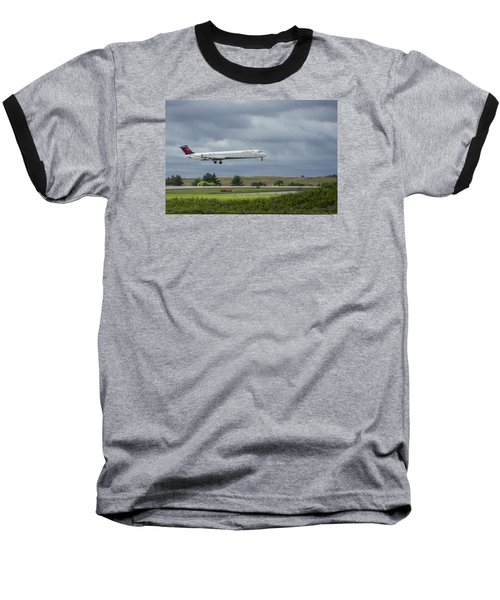 Delta Airlines Mcdonnell Douglas Aircraft N952dl Hartsfield-jackson Atlanta International Airport Baseball T-Shirt