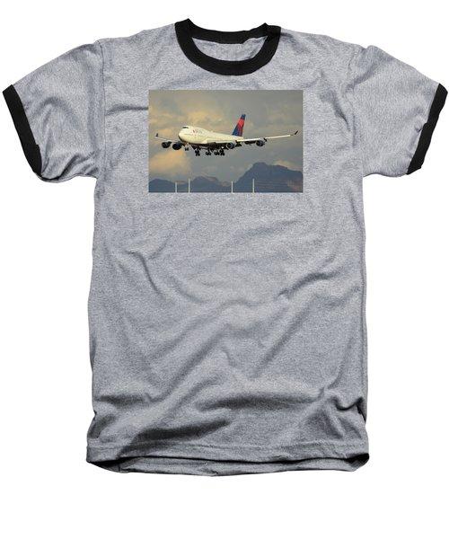 Delta Boeing 747-451 N668us Phoenix Sky Harbor January 8 2015 Baseball T-Shirt
