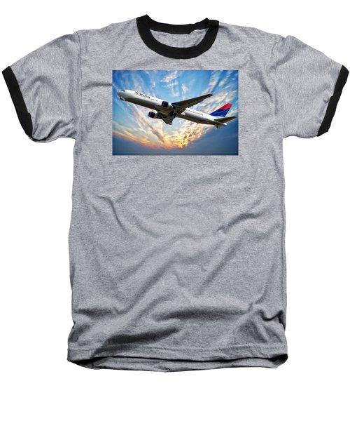 Delta Passenger Plane Baseball T-Shirt