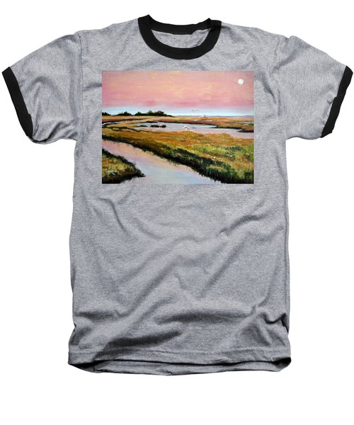 Delta Sunrise Baseball T-Shirt by Suzanne McKee