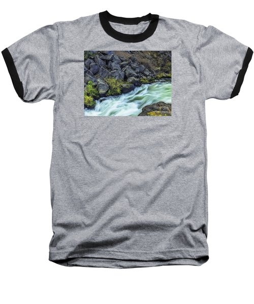 Baseball T-Shirt featuring the photograph Deluge At The Falls by Nancy Marie Ricketts