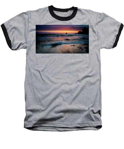 Demartin Beach Sunset Baseball T-Shirt