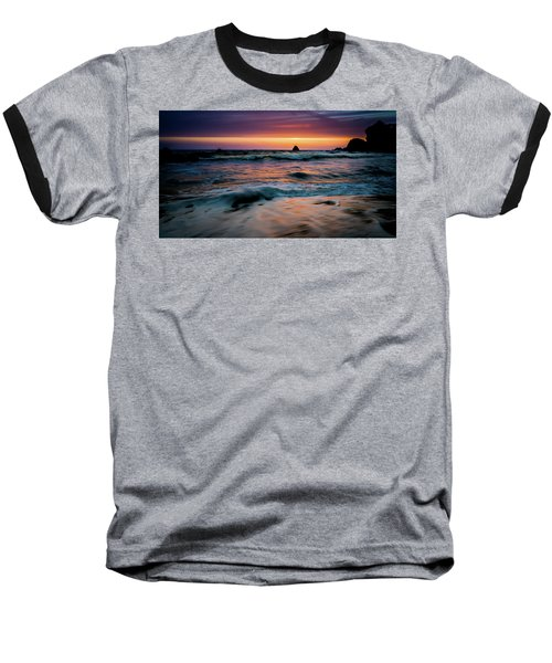 Demartin Beach Sunset Baseball T-Shirt