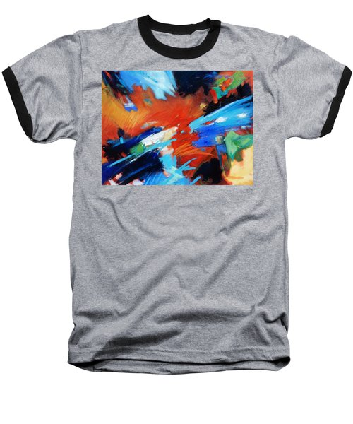 Baseball T-Shirt featuring the painting Demo by Gary Coleman