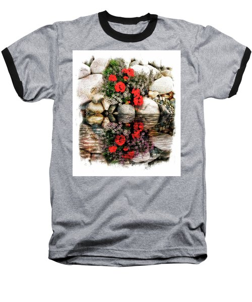 Denali National Park Flowers Baseball T-Shirt by Joseph Hendrix