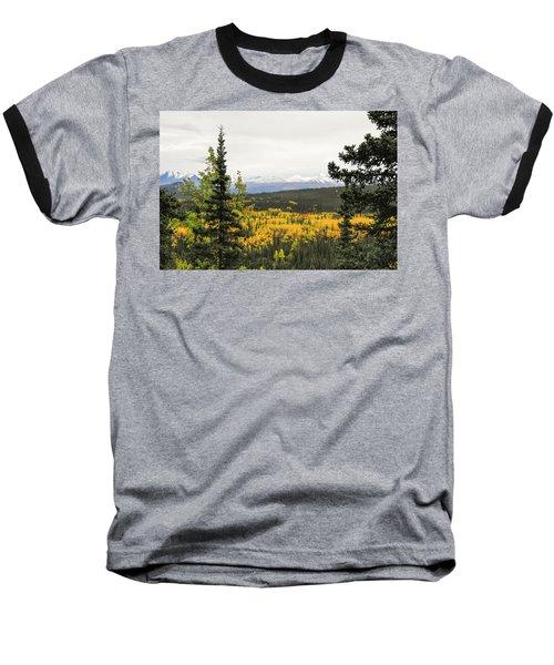Denali National Park Landscape Baseball T-Shirt