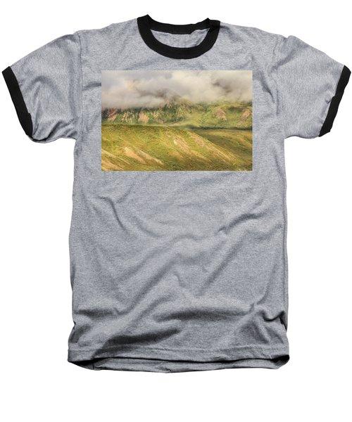 Denali National Park Mountain Under Clouds Baseball T-Shirt