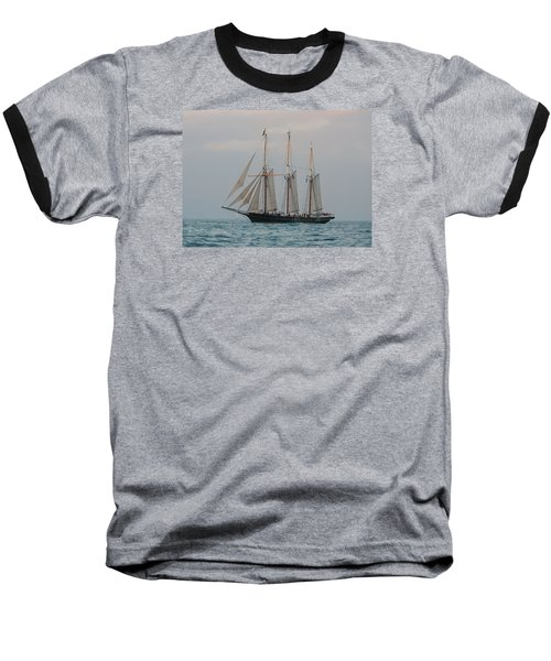 Denis Sullivan Out On An Evening Sail Baseball T-Shirt by Janice Adomeit
