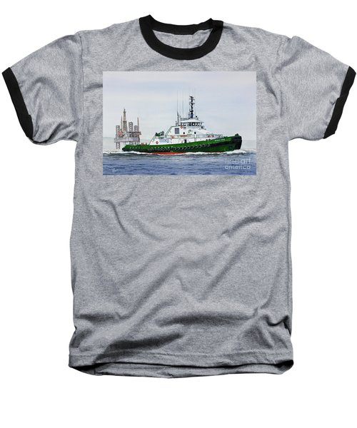 Baseball T-Shirt featuring the painting Denise Foss by James Williamson