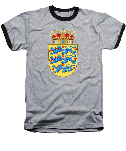 Denmark Coat Of Arms Baseball T-Shirt by Movie Poster Prints