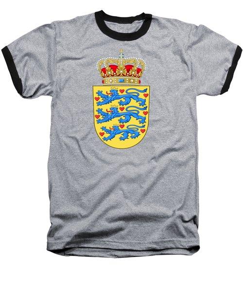 Denmark Coat Of Arms Baseball T-Shirt