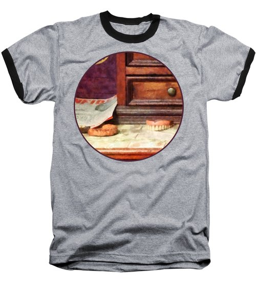Dentist - Dentures Baseball T-Shirt by Susan Savad