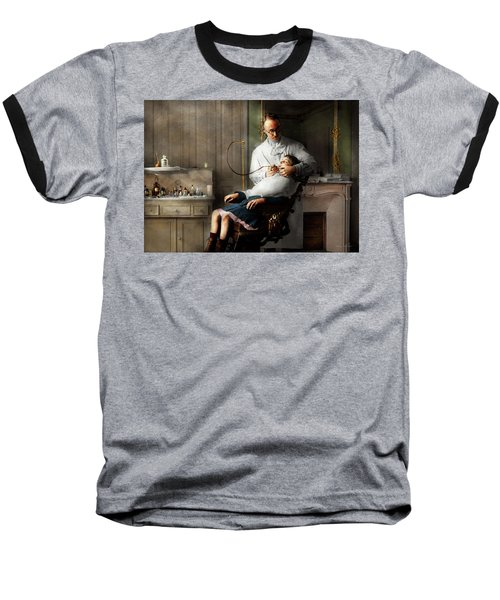 Baseball T-Shirt featuring the photograph Dentist - Good Oral Hygiene 1918  by Mike Savad