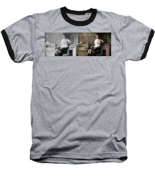 Baseball T-Shirt featuring the photograph Dentist - Good Oral Hygiene 1918 - Side By Side by Mike Savad