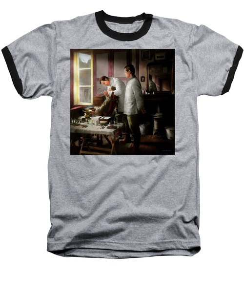 Baseball T-Shirt featuring the photograph Dentist - The Horrors Of War 1917 by Mike Savad