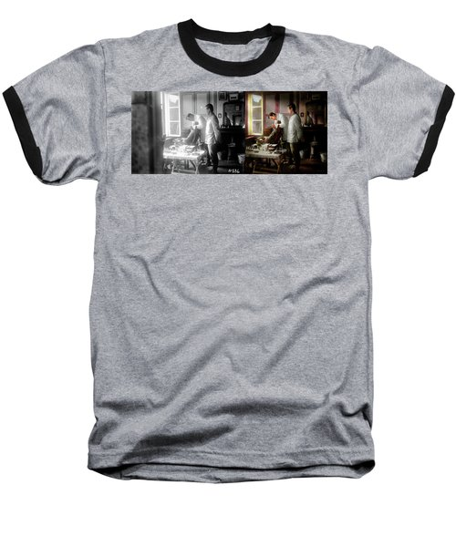 Baseball T-Shirt featuring the photograph Dentist - The Horrors Of War 1917 - Side By Side by Mike Savad