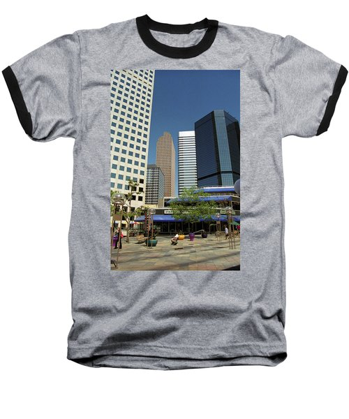 Baseball T-Shirt featuring the photograph Denver Architecture by Frank Romeo