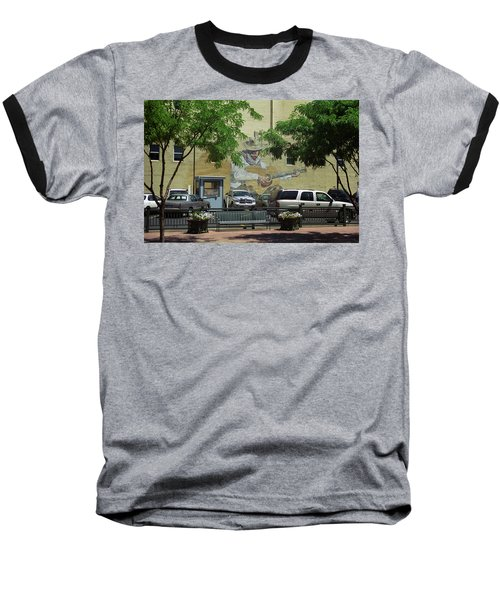 Baseball T-Shirt featuring the photograph Denver Cowboy Parking by Frank Romeo
