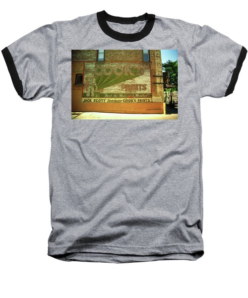 Baseball T-Shirt featuring the photograph Denver Ghost Mural by Frank Romeo