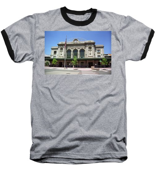 Baseball T-Shirt featuring the photograph Denver - Union Station Film by Frank Romeo