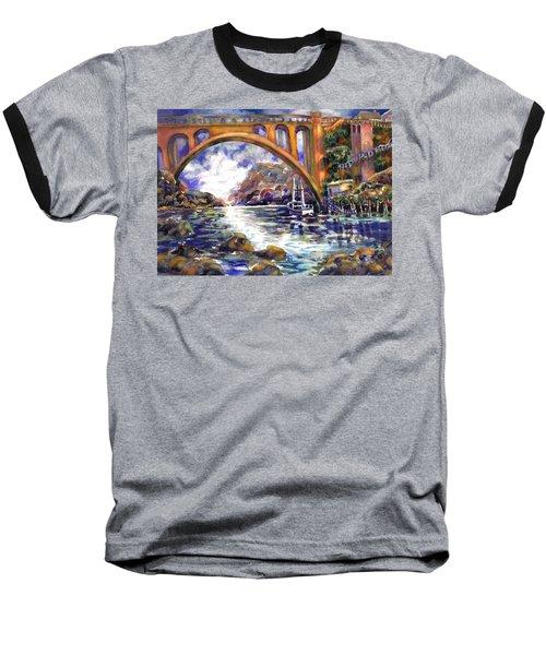 Depoe Bay Bridge Baseball T-Shirt
